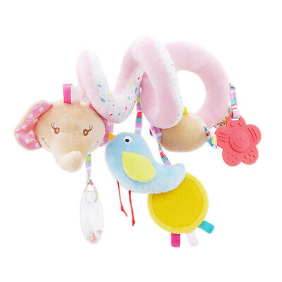 Baby Bed Stroller Activity Spiral Hanging Bell Toy Crib Rattle Plush Toy 8C