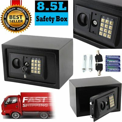 Digital Electronic Password Keypad Safety Box High Secure 8.5L Home Security KJ