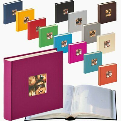 Fun 6x4 slip-in 200 photo albums with window, many colours to choose from