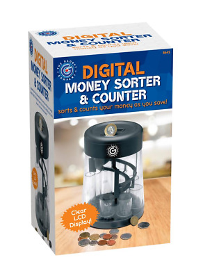 New Coin Counter And Sorter Money Jar Change Digital Machine Lcd Display