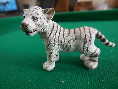 Schleich Wild Animal Baby White Tiger Cub Pretend Play Toy