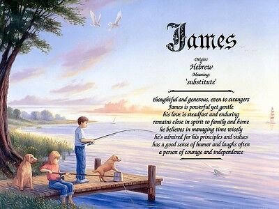 """Fishing"" Name Meaning Prints Personalized (Children)"