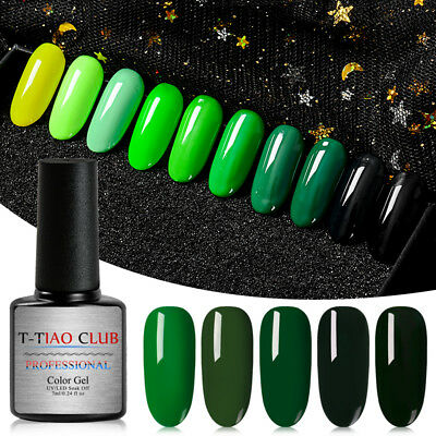 7ML 10 Classic Gel Nail Polish Soak off UV Gel Manicure Salon Party Show Green