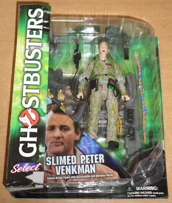 Ghostbusters Slimed Peter Venkman Diamond Select Deluxe Action Figure NEW