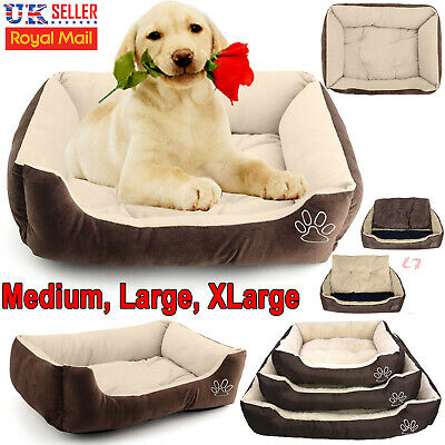 Deluxe Soft Warm Pet Kennel Dog Cat Bed Washable Candy Color Square Nest Basket