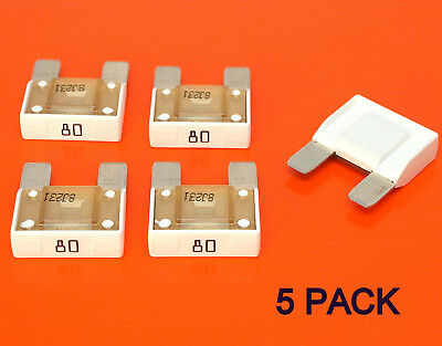 5 x High Quality 80 Amp Maxi Blade Fuses - 12V 24V 32V - Car Van Bike Tractor