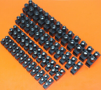 High Quality Black Connector Strip 12 Way Block 3 5 10 15 30 60 Amp - Electrical