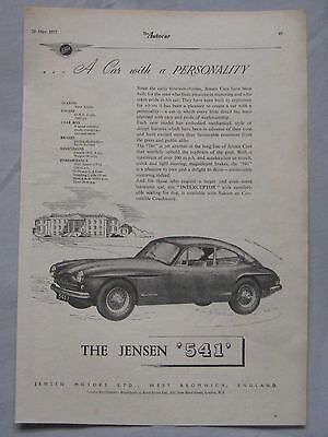 1955 Jensen 541 Original advert