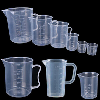 Utility Transparent Plastic Liquid Measuring Cup Jug With Handle Kitchen Tool