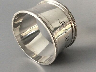 Antique Solid Silver Napkin Ring Holder - Dutch 833 Continental Silver