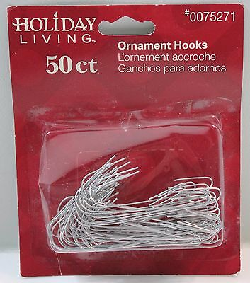 "Silver Ornament Hooks Hangers 2.5"" Long 50ct"