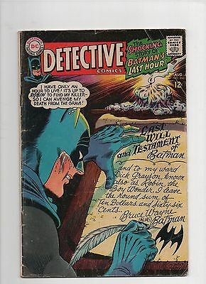 Detective Comic #366 (Aug 1967)  VG 4.0   Elongated Man backup story