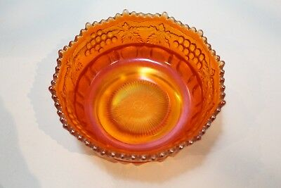 Northwood  Berry Bowl Carnival Glass Imperial Marigold Berry Bowl  Grape