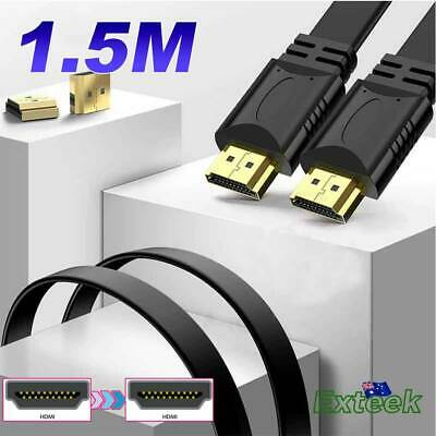 1.5m HDMI Flat Cable 3D Ultra HD 1080p High Speed with Ethernet HEC ARC V1.4 AU