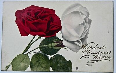 POSTCARD.GREETINGS.WITH BEST CHRISTMAS WISHES.TUCK'S CARD.No6903.'FLOWERS'.