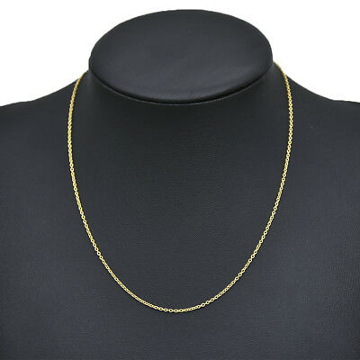 Real Classic Gold Plated Stainless Steel Chain Necklace 49.8cm Men Women