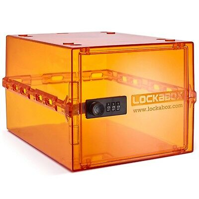🇬🇧 Lockabox One  Compact and hygienic lockable box -AMBER- Price BEAT PROMISE!