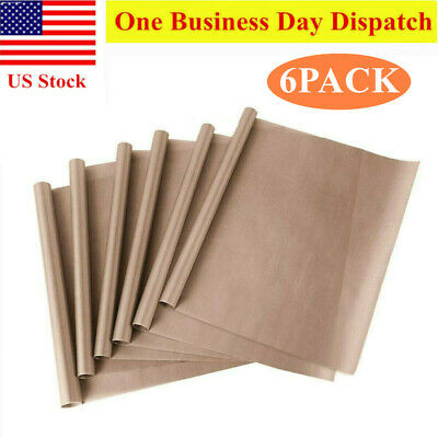 6pcs teflon sheet for heat press ptfe heat trasfer iron resistant baking cloth