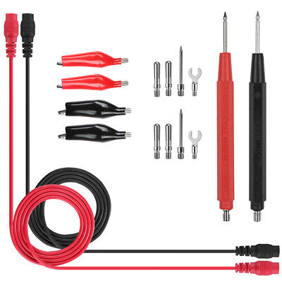 UK 16x Kit Universal Multifunction Digital Test Lead Multimeter Probe Cable Set