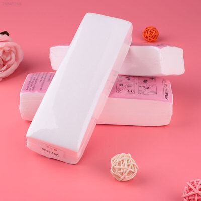 96CD Beauty Lady 100Pcs Disposable Wax Strips Depilatory Papers Body Hair Remova