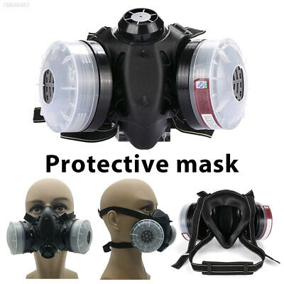 A7CC Protective Mask Dual Cartridge with 2 Filter Box Outdoor Anti Dust Mask