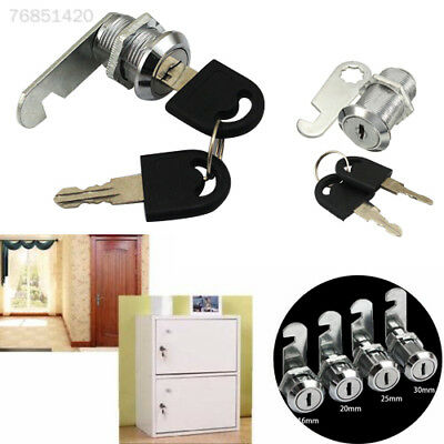 86AA 20mm Locks Cabinet Mailbox Drawer Cupboard Locker 2 Key Home Door Accessori