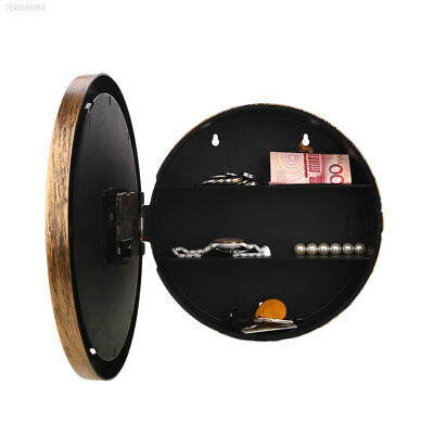0D6E Secret Hidden Wall Clock Home Security Valuables Cash Jewellery Gold Safe B
