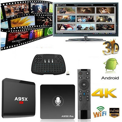 Smart Android7.1 TV Box RK3229 S905W Quad Core 4K WiFi Media Player 8G 16G X8T7