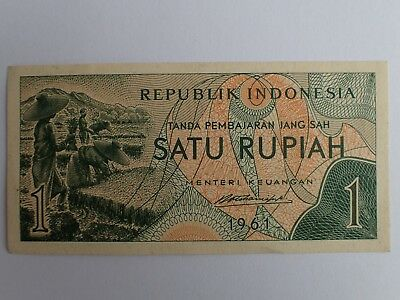 Republic Indonesia Satu Rupiah 1 1961    Shipping With Tracking