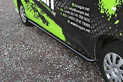 To Fit 2014+ Opel / Vauxhall Vivaro LWB Curved Side Bars Steps Tubes - Black