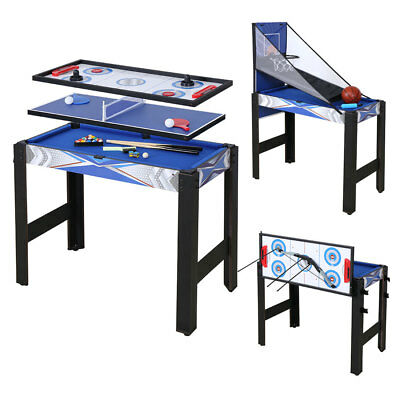 5 in 1 Multi Game Table Pool table Ping Pong Hockey Basketball Archery with Bow