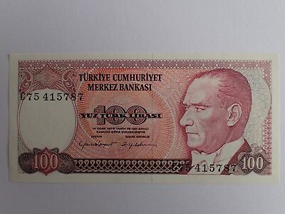 Turkey Banknote 1970 100 Lirasi Sixth Issue   Shipping With Tracking