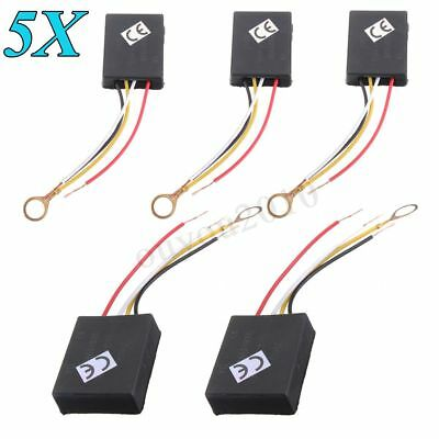 5x 3Way 100-240V Table Desk Light Lamp Touch Control Switch Sensor Dimmer Repair