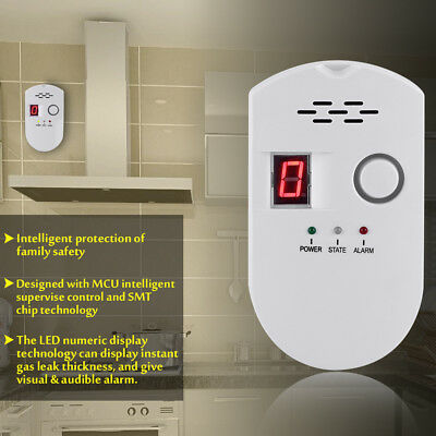 LCD LPG LNG Digital Natural Gas Leak Detector Butane Methane Safe Alarm Sensor