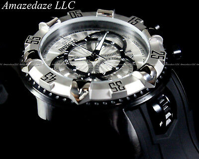 NEW Invicta Mens Stainless Steel Chronograph Excursion Touring Silver Dial Watch