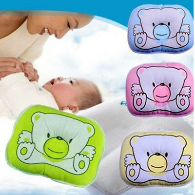 Newborn Bear Printed Pillow Infant Baby Support Cushion Pad Prevent Flat Head
