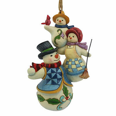 Jim Shore*STACKED SNOWMAN FAMILY ORNAMENT*New*NIB*Christmas*4058821