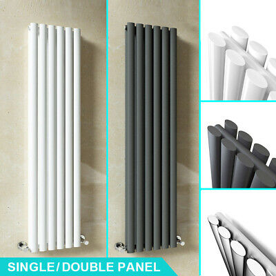 Designer Vertical Horizontal Radiator Tall Upright Oval Column Central Heating