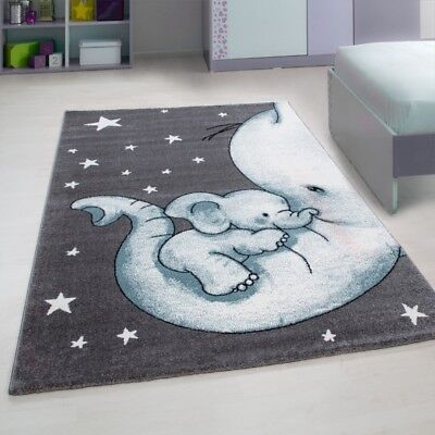 Rug Blue Kids Bedroom Baby Nursery