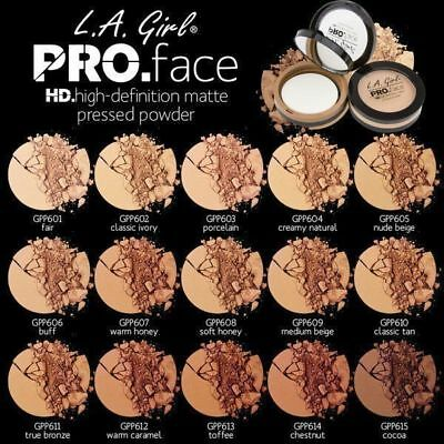 L.A. Girl PRO Matte Pressed Face Powder HD.High Definition - All Shades
