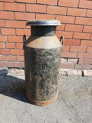Vintage Black Rustic Milk Churn