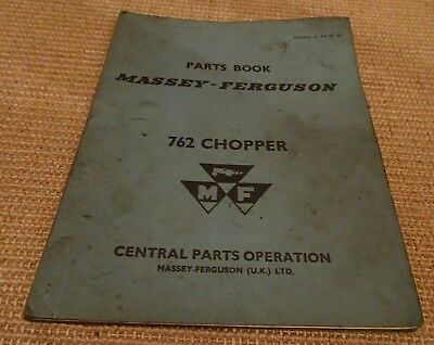 Massey Ferguson 762 Chopper Parts Book