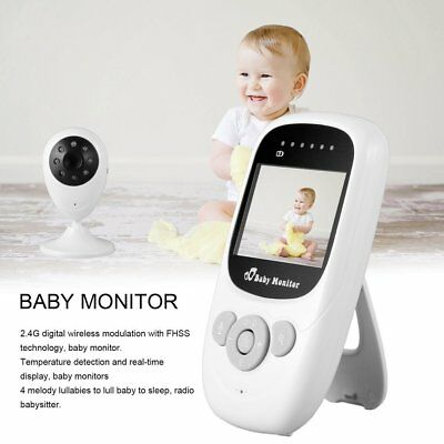 "2.4"" TFT LCD Color Wireless Baby Monitor Digital Video 2.4GHz IR Night Melody KJ"