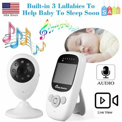 2.4GHz Wireless Digital LCD Color Baby Monitor Audio Video IR Night Camera KJ