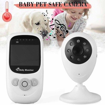 2.4GHz Wireless Digital LCD Color Baby Monitor Video Night Vision Camera Home KJ