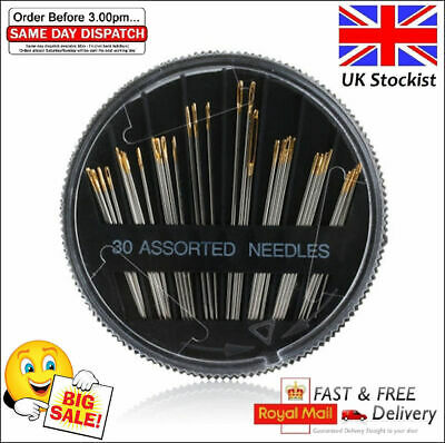 Best pro 30 pcs Assorted Hand Sewing Needles Embroidery Mending Craft Quilt Case