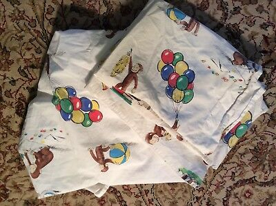 Pottery Barn Kids Curious George Full Bed Sheet And Pillowcase