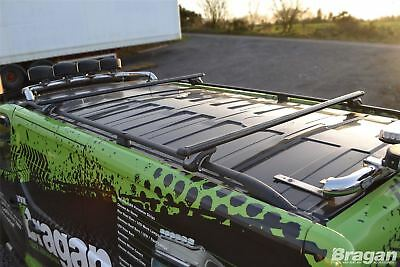 To Fit 2016+ Fiat Talento LWB Black Roof Rails + Black Cross Bars + Load Stops