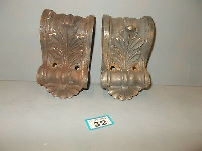 victorian cast iron corbels for a fireplace or to use with a shelf 32