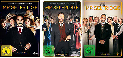 9 DVDs * MR SELFRIDGE - SEASON / STAFFEL 1 + 2 + 3 IM SET # NEU OVP +